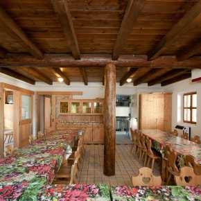 Sala da pranzo - Centro didattico ambientale Aula Verde Valpore - Monte Grappa