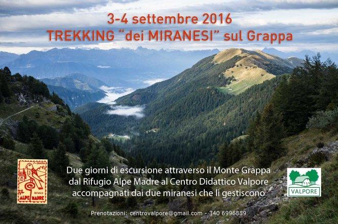 Trekking sul Monte Grappa dal Rifugio Alpe madre al Centro Valpore